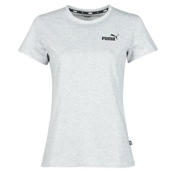 Oblečenie Ženy Tričká s krátkym rukávom Puma ESS LOGO TEE Šedá / Frkaná