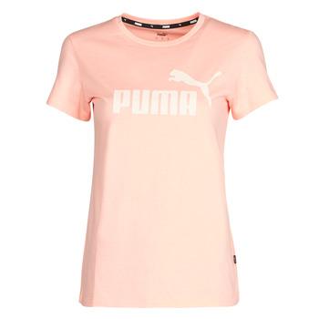 Oblečenie Ženy Tričká s krátkym rukávom Puma ESS Logo Tee (s) Oranžová marhuľová