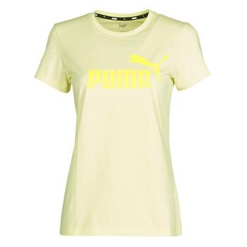 Oblečenie Ženy Tričká s krátkym rukávom Puma ESS Logo Tee (s) Žltá