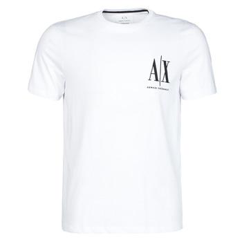 Oblečenie Muži Tričká s krátkym rukávom Armani Exchange 8NZTPH-ZJH4Z Biela