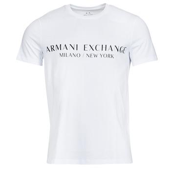 Oblečenie Muži Tričká s krátkym rukávom Armani Exchange 8NZT72-Z8H4Z Biela