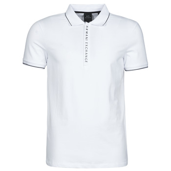 Oblečenie Muži Polokošele s krátkym rukávom Armani Exchange 8NZF71-ZJH2Z Biela