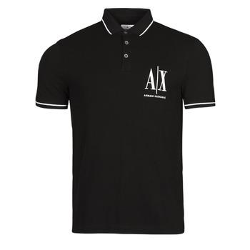 Oblečenie Muži Polokošele s krátkym rukávom Armani Exchange 8NZFPA-Z8M5Z Čierna