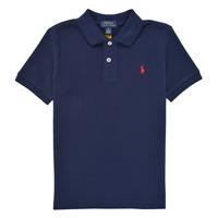Oblečenie Chlapci Polokošele s krátkym rukávom Polo Ralph Lauren TUSSA Námornícka modrá