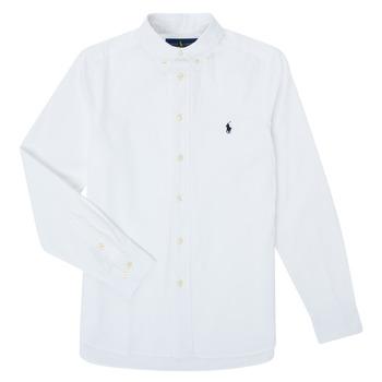 Oblečenie Chlapci Košele s dlhým rukávom Polo Ralph Lauren GONNA Biela