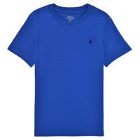 Oblečenie Chlapci Tričká s krátkym rukávom Polo Ralph Lauren ELIVA Modrá / Modrá safírová