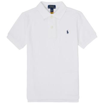 Oblečenie Chlapci Polokošele s krátkym rukávom Polo Ralph Lauren MENCHI Biela