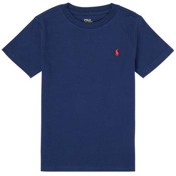 Oblečenie Chlapci Tričká s krátkym rukávom Polo Ralph Lauren TINNA Námornícka modrá