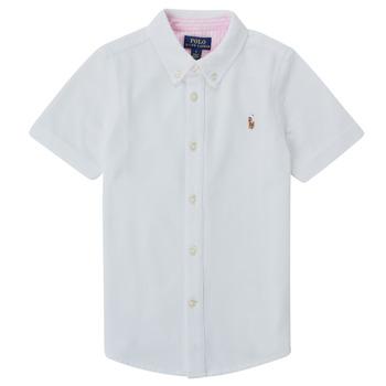 Oblečenie Chlapci Košele s krátkym rukávom Polo Ralph Lauren CAMISSA Biela
