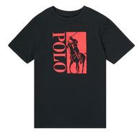 Oblečenie Chlapci Tričká s krátkym rukávom Polo Ralph Lauren CROPI Čierna