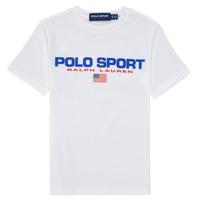 Oblečenie Chlapci Tričká s krátkym rukávom Polo Ralph Lauren DRONI Biela
