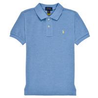 Oblečenie Chlapci Polokošele s krátkym rukávom Polo Ralph Lauren BLEUNI Modrá