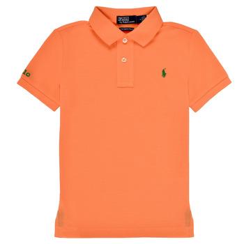 Oblečenie Chlapci Polokošele s krátkym rukávom Polo Ralph Lauren POLLIE Oranžová