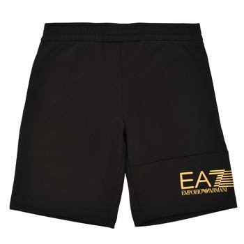 Oblečenie Chlapci Šortky a bermudy Emporio Armani EA7 3KBS53-BJ05Z-1200 Čierna / Zlatá