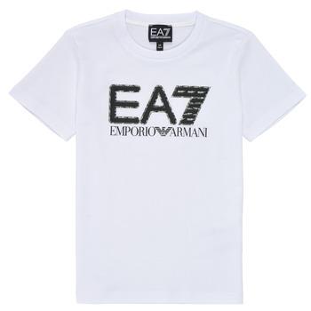 Oblečenie Chlapci Tričká s krátkym rukávom Emporio Armani EA7 3KBT53-BJ02Z-1100 Biela