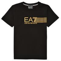 Oblečenie Chlapci Tričká s krátkym rukávom Emporio Armani EA7 3KBT54-BJ02Z-1200 Čierna / Zlatá
