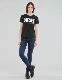 Oblečenie Ženy Rifle Skinny  Diesel SLANDY-LOW Modrá / Medium