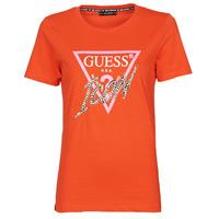 Oblečenie Ženy Tričká s krátkym rukávom Guess SS CN ICON TEE Červená