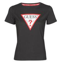 Oblečenie Ženy Tričká s krátkym rukávom Guess SS CN ORIGINAL TEE Čierna