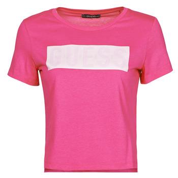Oblečenie Ženy Tričká s krátkym rukávom Guess SS CN ADRIA TEE Fuksiová