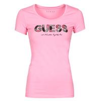 Oblečenie Ženy Tričká s krátkym rukávom Guess SS RN MARTINA TEE Ružová