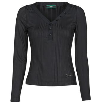 Oblečenie Ženy Tričká s dlhým rukávom Guess LS URSULA TOP Čierna