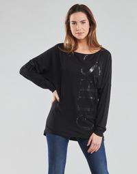 Oblečenie Ženy Tričká s dlhým rukávom Guess LS KAROLINA TEE Čierna