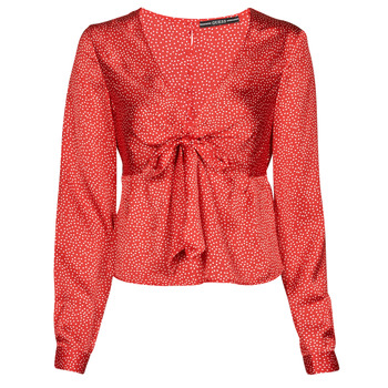 Oblečenie Ženy Blúzky Guess NEW LS GWEN TOP Červená / Biela