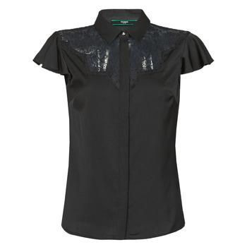 Oblečenie Ženy Blúzky Guess SS RENATA TOP Čierna
