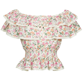 Oblečenie Ženy Blúzky Guess SS NEW ISOTTA TOP Ružová