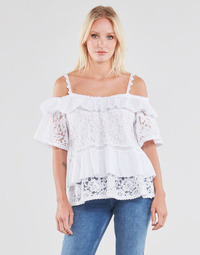 Oblečenie Ženy Blúzky Guess SS NEW OLIMPIA TOP Biela