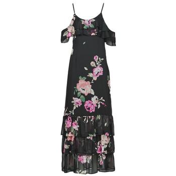 Oblečenie Ženy Dlhé šaty Guess AGATHE DRESS Čierna / Viacfarebná