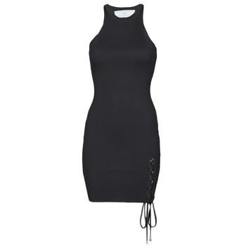 Oblečenie Ženy Krátke šaty Guess ALEXA TIE DRESS Čierna