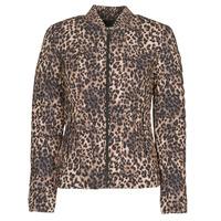 Oblečenie Ženy Vyteplené bundy Guess VERA JACKET Leopard