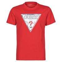Oblečenie Muži Tričká s krátkym rukávom Guess TRIESLEY CN SS TEE Červená