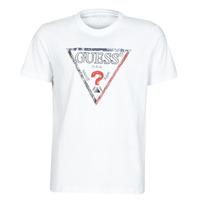 Oblečenie Muži Tričká s krátkym rukávom Guess TRIESLEY CN SS TEE Biela