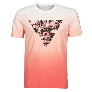 Oblečenie Muži Tričká s krátkym rukávom Guess PALM BEACH CN SS TEE Červená