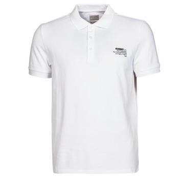 Oblečenie Muži Polokošele s krátkym rukávom Guess OZ SS POLO Biela