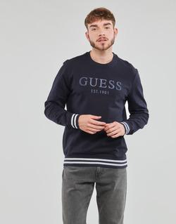 Oblečenie Muži Mikiny Guess BEAU CN FLEECE Čierna
