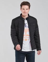 Oblečenie Muži Vyteplené bundy Guess STRETCH MIXED BIKER Čierna