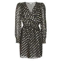 Oblečenie Ženy Krátke šaty Naf Naf DOTSYTA Čierna / Zlatá
