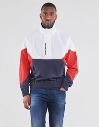 Oblečenie Muži Bundy  Tommy Jeans TJM LIGHTWEIGHT POPOVER JACKET Biela / Červená / Námornícka modrá