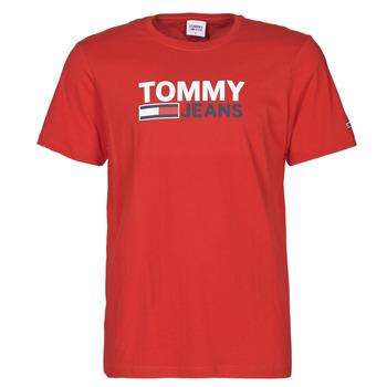 Oblečenie Muži Tričká s krátkym rukávom Tommy Jeans TJM CORP LOGO TEE Červená