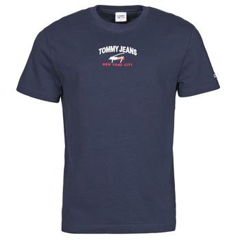 Oblečenie Muži Tričká s krátkym rukávom Tommy Jeans TJM TIMELESS TOMMY SCRIPT TEE Námornícka modrá