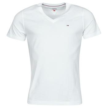 Oblečenie Muži Tričká s krátkym rukávom Tommy Jeans TJM ORIGINAL JERSEY TEE V NECK Biela