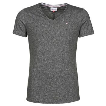 Oblečenie Muži Tričká s krátkym rukávom Tommy Jeans TJM SLIM JASPE V NECK Čierna