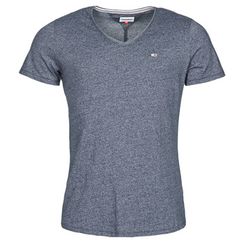 Oblečenie Muži Tričká s krátkym rukávom Tommy Jeans TJM SLIM JASPE V NECK Námornícka modrá