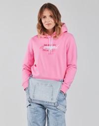 Oblečenie Ženy Mikiny Tommy Jeans TJW CROPPED TOMMY FLAG HOODIE Ružová
