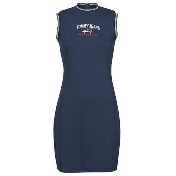 Oblečenie Ženy Krátke šaty Tommy Jeans TJW TIMELESS SCRIPT DRESS Námornícka modrá