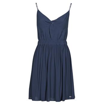 Oblečenie Ženy Krátke šaty Tommy Jeans TJW ESSENTIAL STRAP DRESS Námornícka modrá